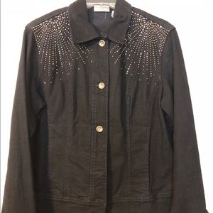 Black Denim Jacket by Chico's